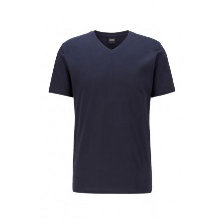 T-shirt à col V en coton...