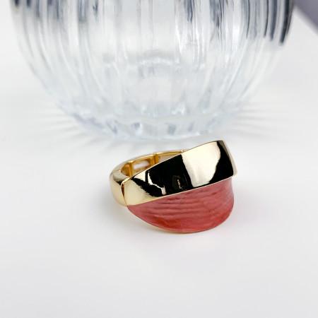 Bague élastiquée en plaqué or