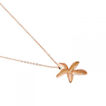 Collier étoile de mer rose